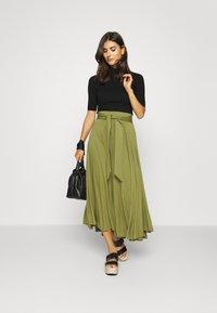 Esprit - A-line skirt - olive - 1