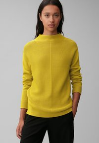 Marc O'Polo - STRUCTURE MIX TURTLENECK - Jumper - fresh pea - 0