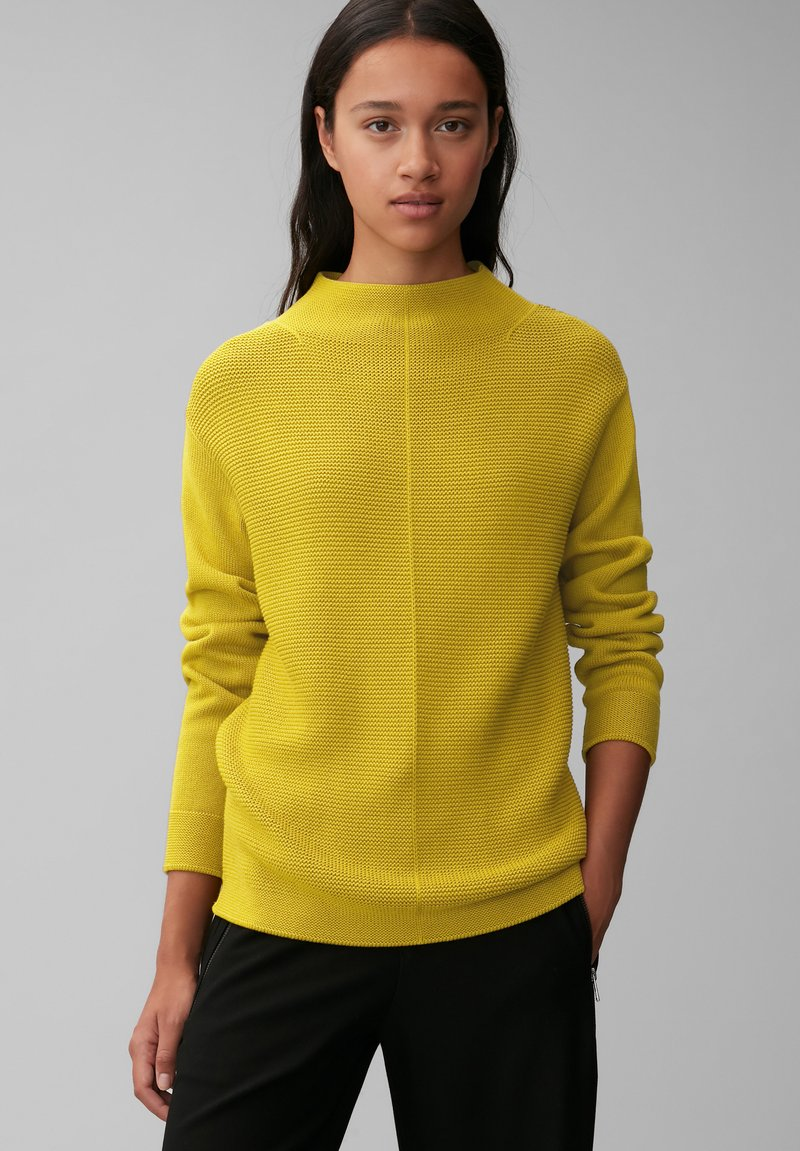 Marc O'Polo - STRUCTURE MIX TURTLENECK - Jumper - fresh pea