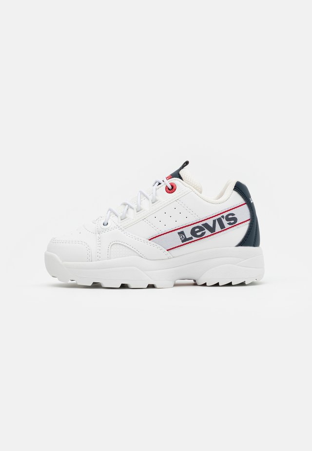 SOHO - Baskets basses - white/navy/red