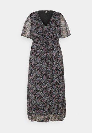 CARASTA MIDI WRAP DRESS - Maxi dress - black