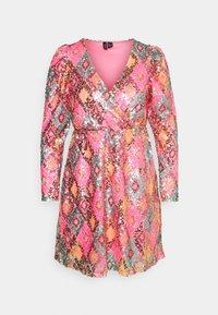 Vero Moda Petite - VMDIVA SEQUINS SHORT DRESS - Robe de soirée - hot pink - 0