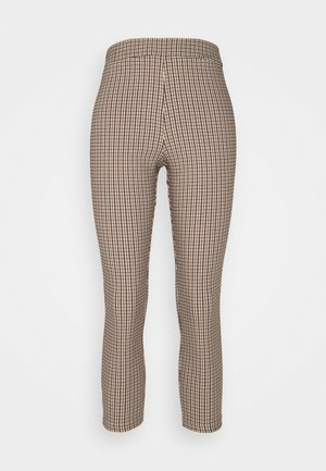 CHECK BENGALNE TROUSER - Bukse - brown
