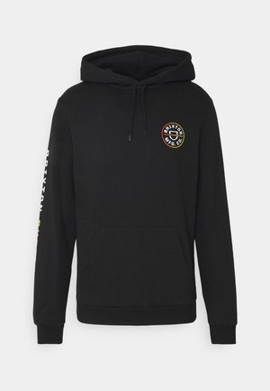 CREST HOOD - Hoodie - black/yellow gradient