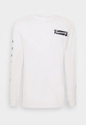 LONGSLEEVE SCRIPT BOX TEE - Maglietta a manica lunga - white