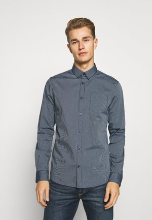 FITTED EASYCARE SHIRT STRETCH - Shirt - navy stripe