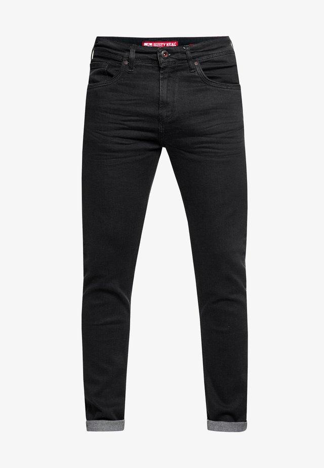 MELVIN - Slim fit jeans - black