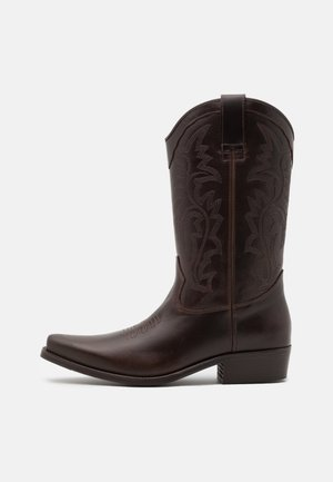 BIADALEN WESTERN BOOT - Santiags - dark brown