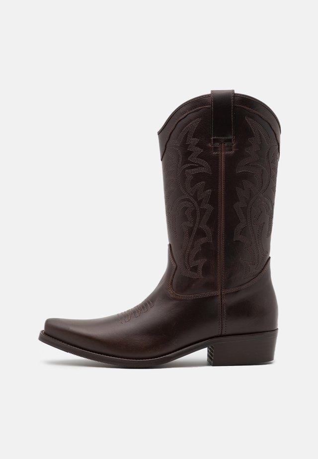 BIADALEN WESTERN BOOT - Cowboystøvler - dark brown