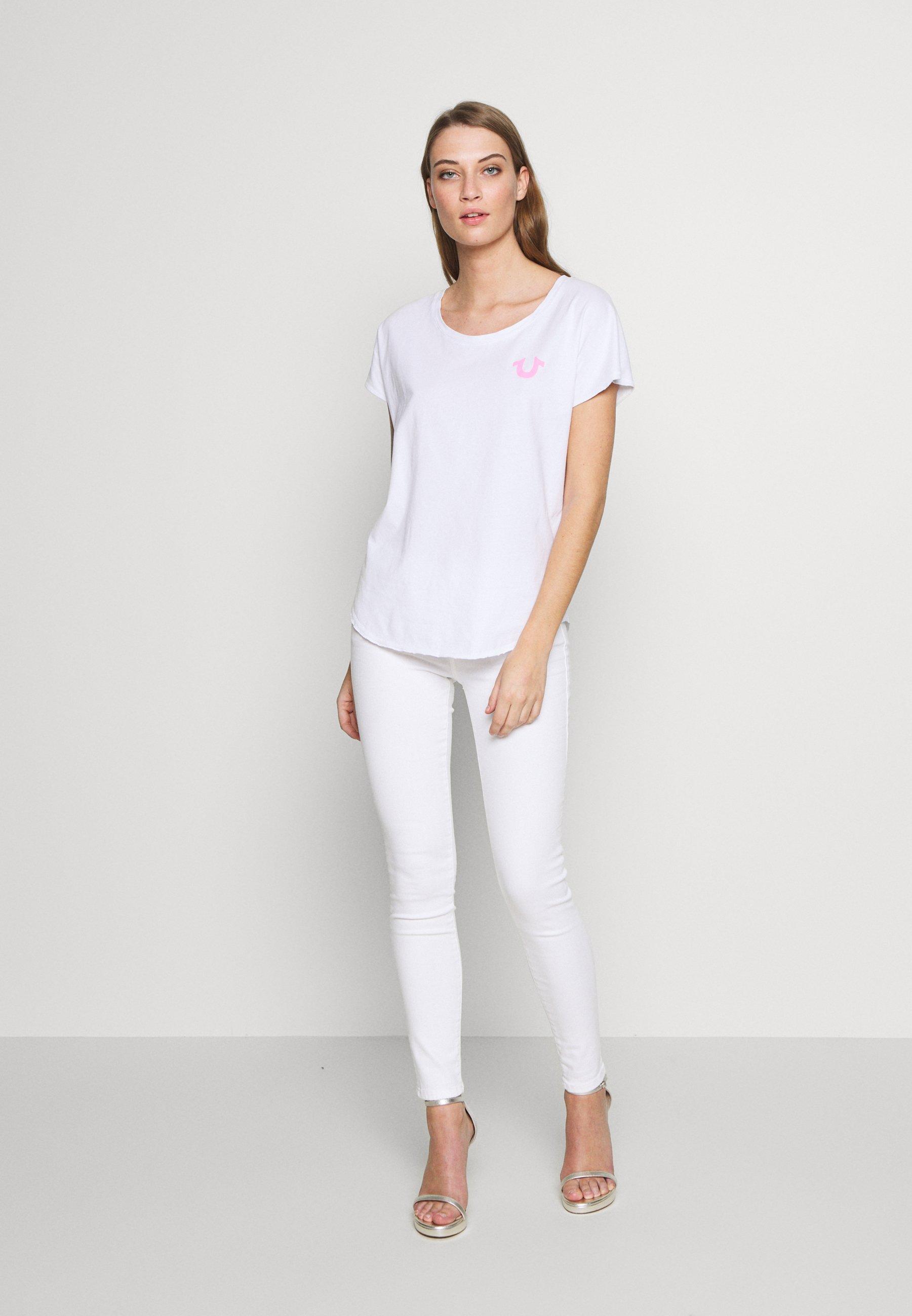 True Religion Crewneck Relax Reflective Horseshoe - T-shirts Med Print White/hvit