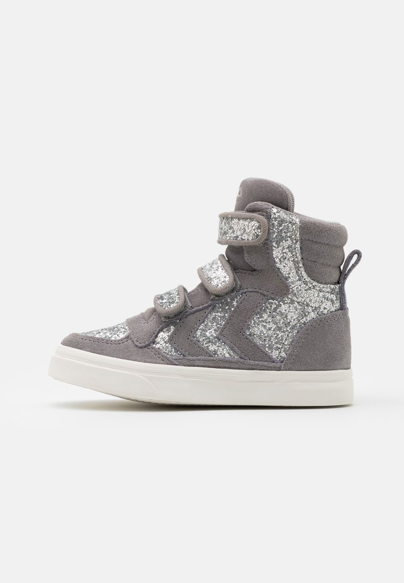 Hummel - STADIL GLITTER - High-top trainers - alloy