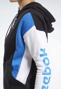 Reebok - TRAINING ESSENTIALS LOGO HOODIE - Zip-up hoodie - black - 5