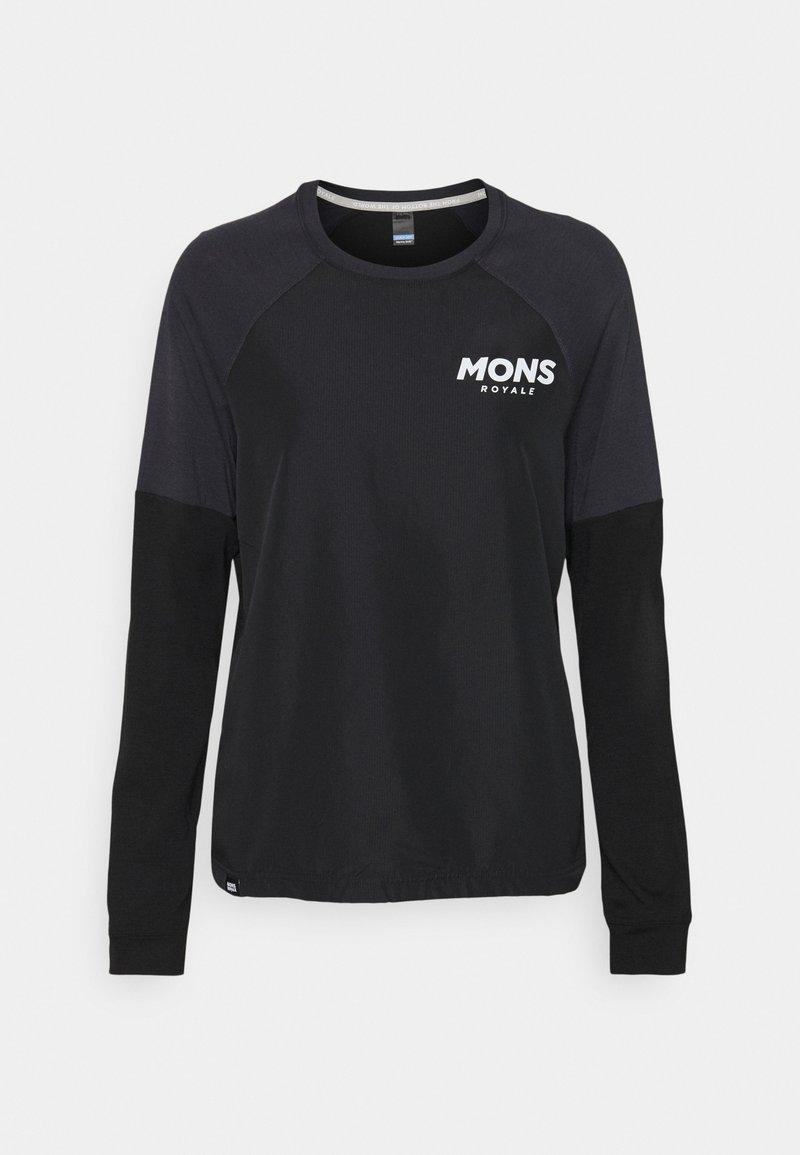 Mons Royale - TARN FREERIDE WIND  - Langarmshirt - black