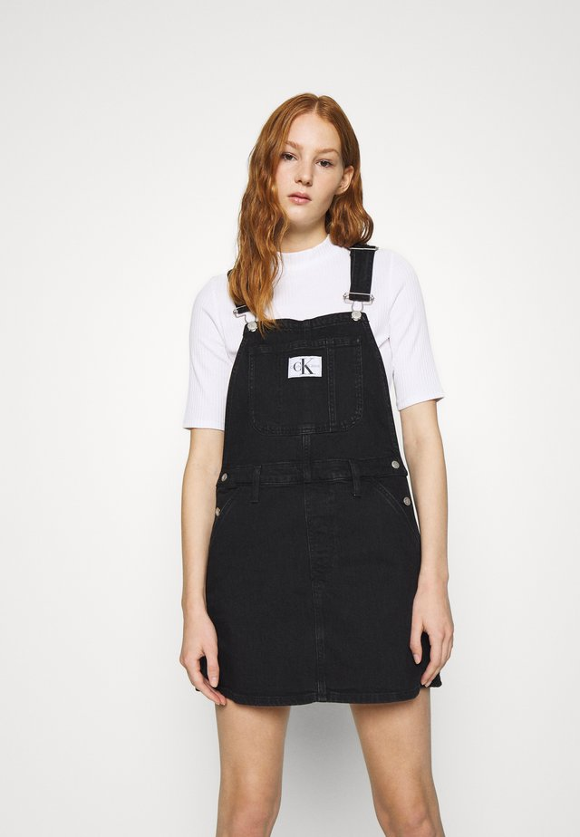 OVERALL DRESS - Farkkumekko - washed black