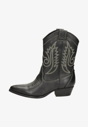 Cowboy/Biker boots - zwart