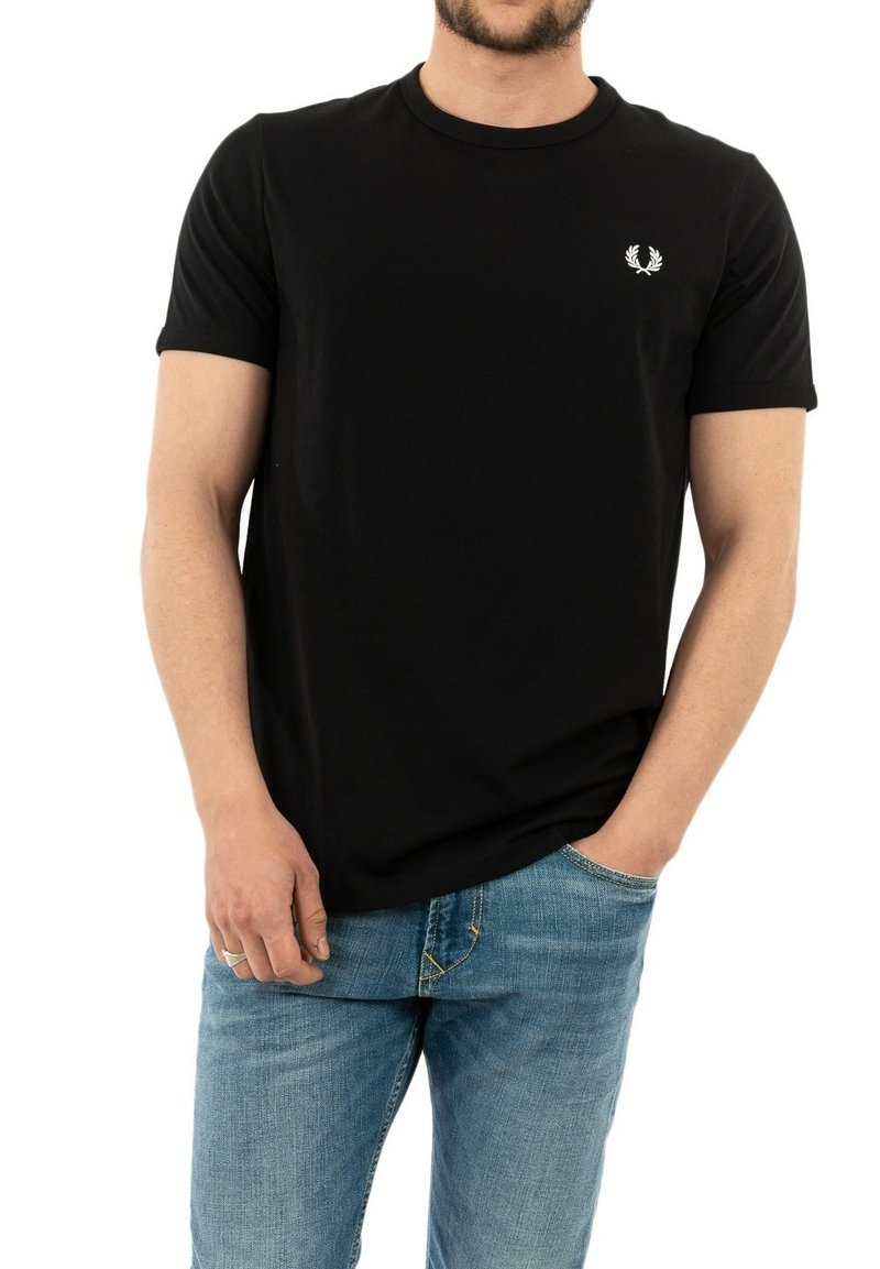 Fred Perry - T-shirt med print - noir