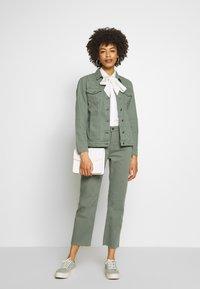 Aaiko - CEYDA - Straight leg jeans - steel green - 1