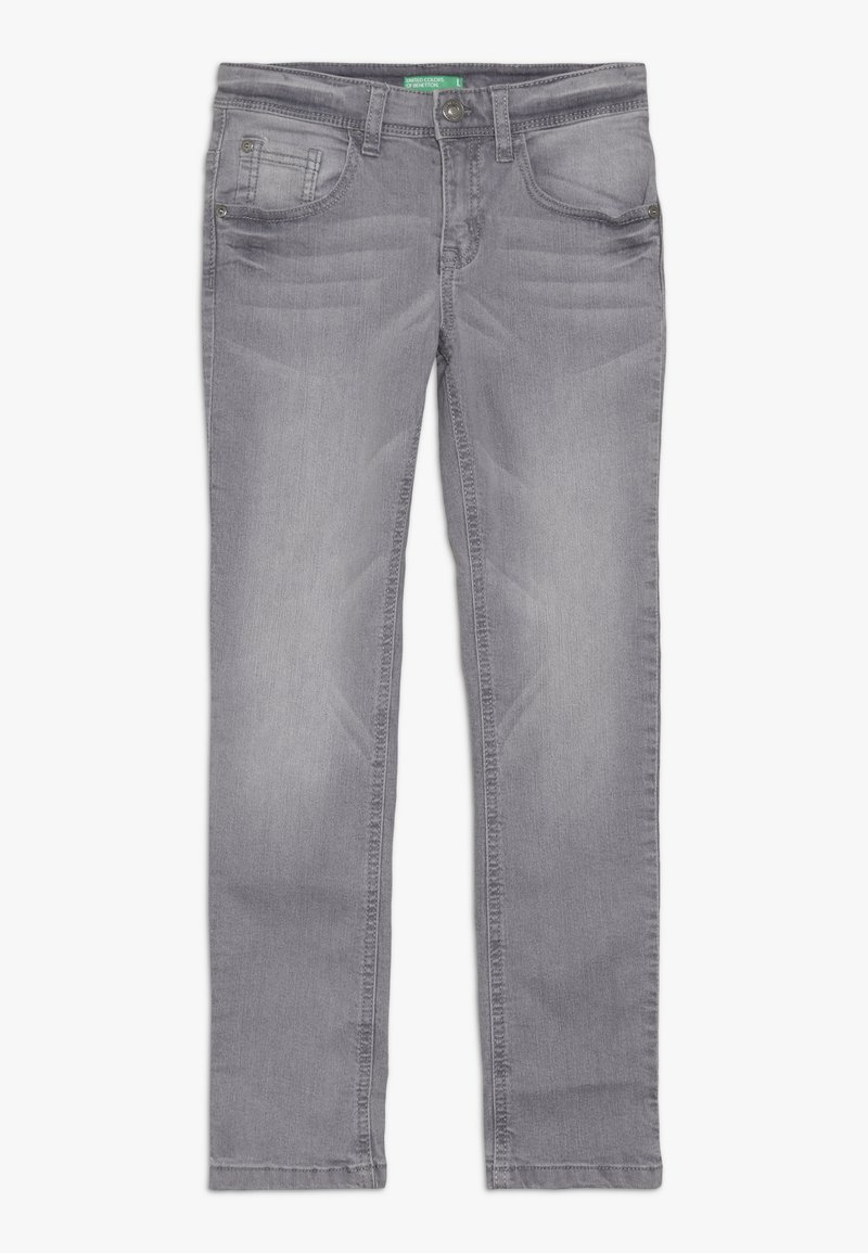 Benetton - TROUSERS - Jeansy Slim Fit - grey