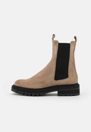Platform ankle boots - dessert