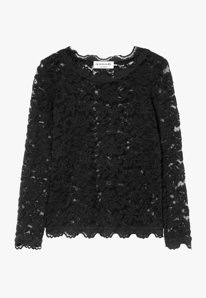 Rosemunde - T-SHIRT LS - Bluser - black