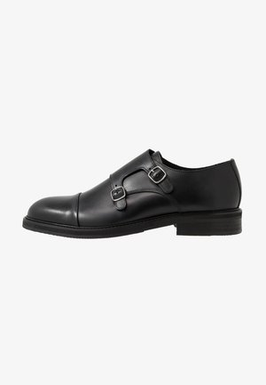 SLHFILIP MONK  - Smart slip-ons - black