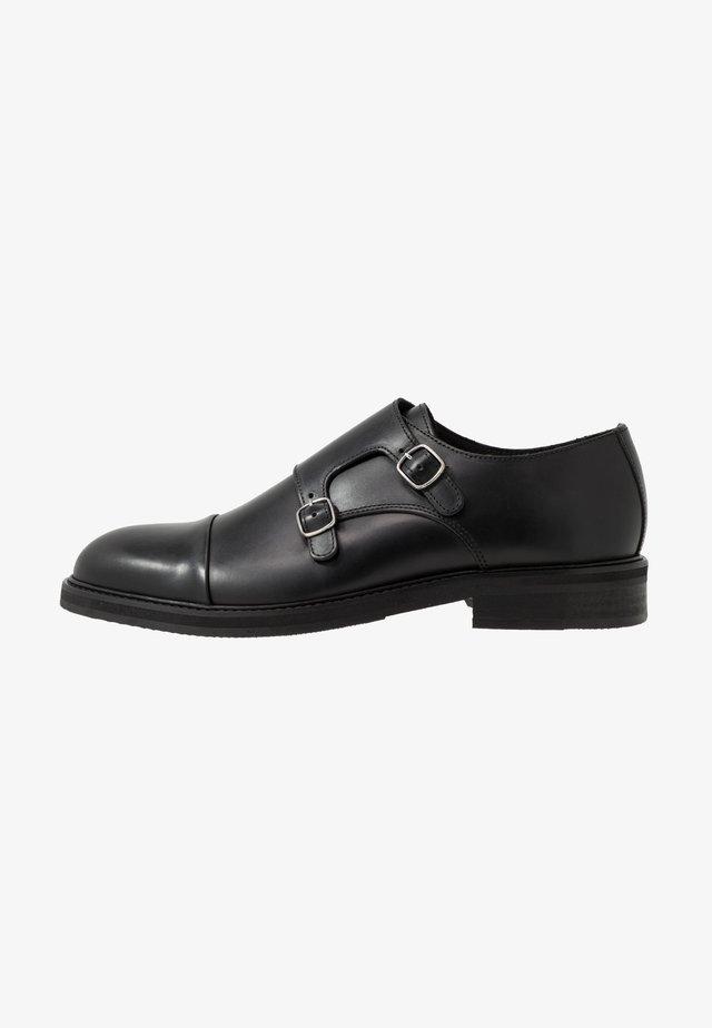 SLHFILIP MONK  - Elegantní nazouvací boty - black