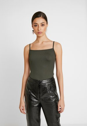 THIN STRAP BODYSUIT - Top - khaki