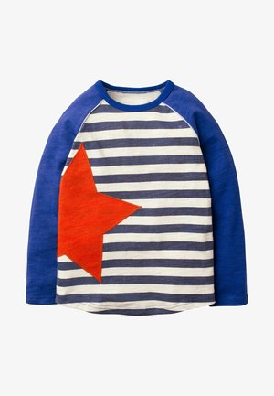 SPORTLICHES RAGLAN-SHIRT - Long sleeved top - segelblau/naturweiß, stern