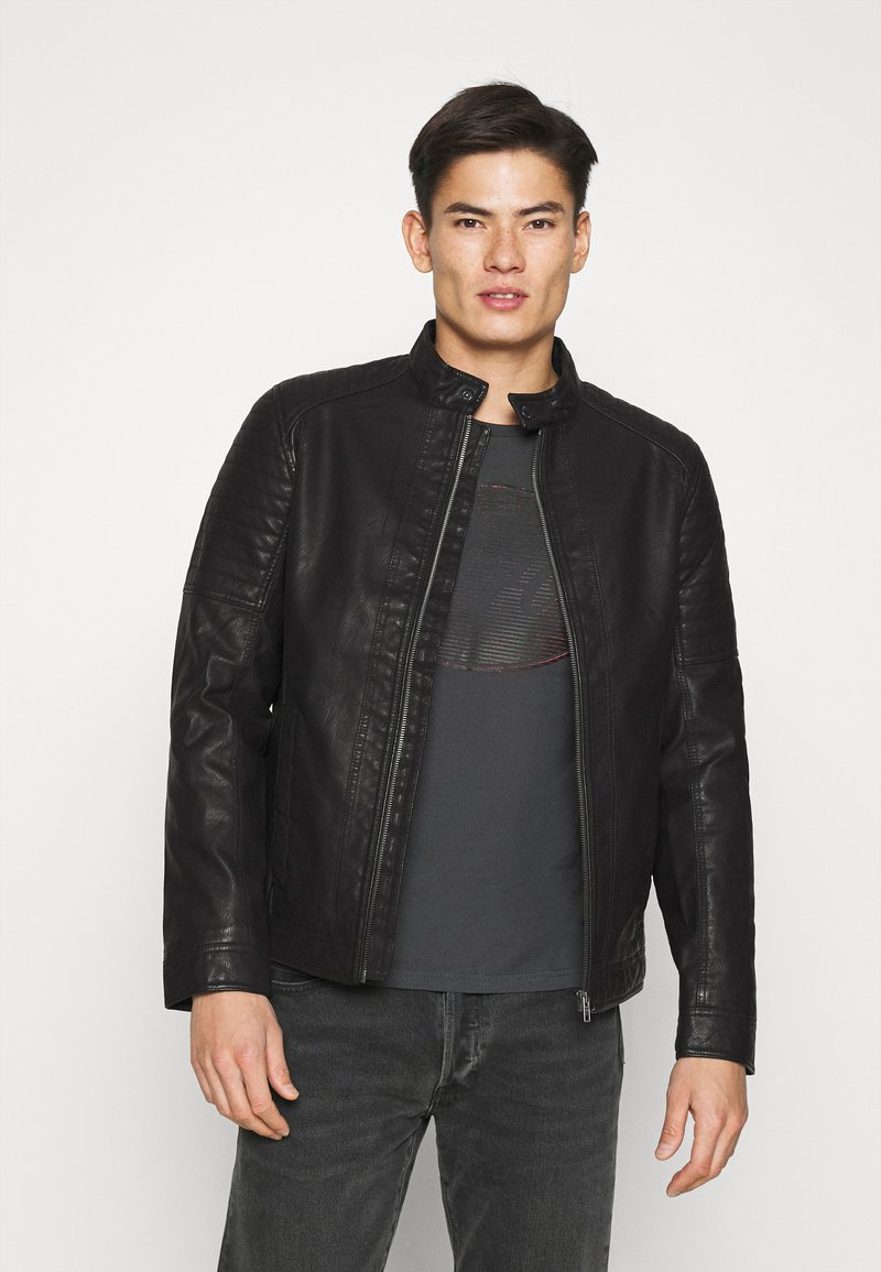 TOM TAILOR - Faux leather jacket - black