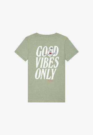 Print T-shirt - silvered green