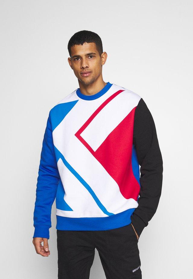 UNISEX BLOCK CREW - Sweatshirt - blue