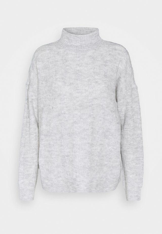PCBECKY - Strikkegenser - light grey melange