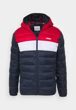 JJVINCENT PUFFER HOOD - Winter jacket - tango red