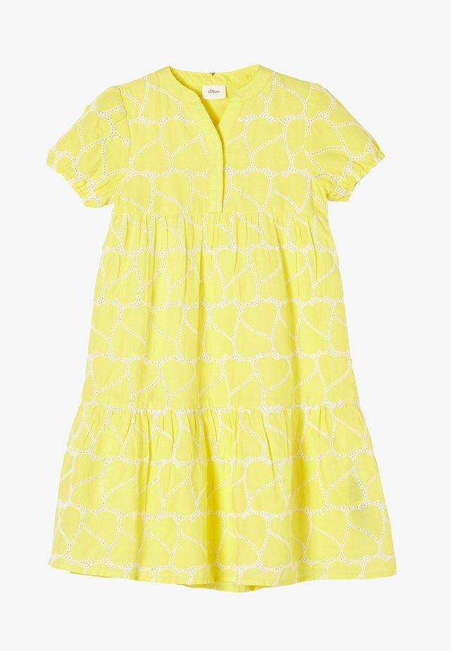 Korte jurk - light yellow