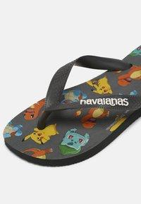 Havaianas - POKEMON UNISEX - T-bar sandals - new graphite - 6