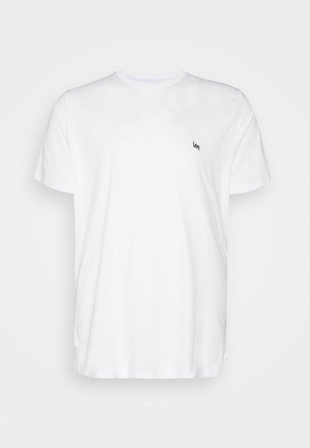 PATCH LOGO TEE - T-shirt basic - white