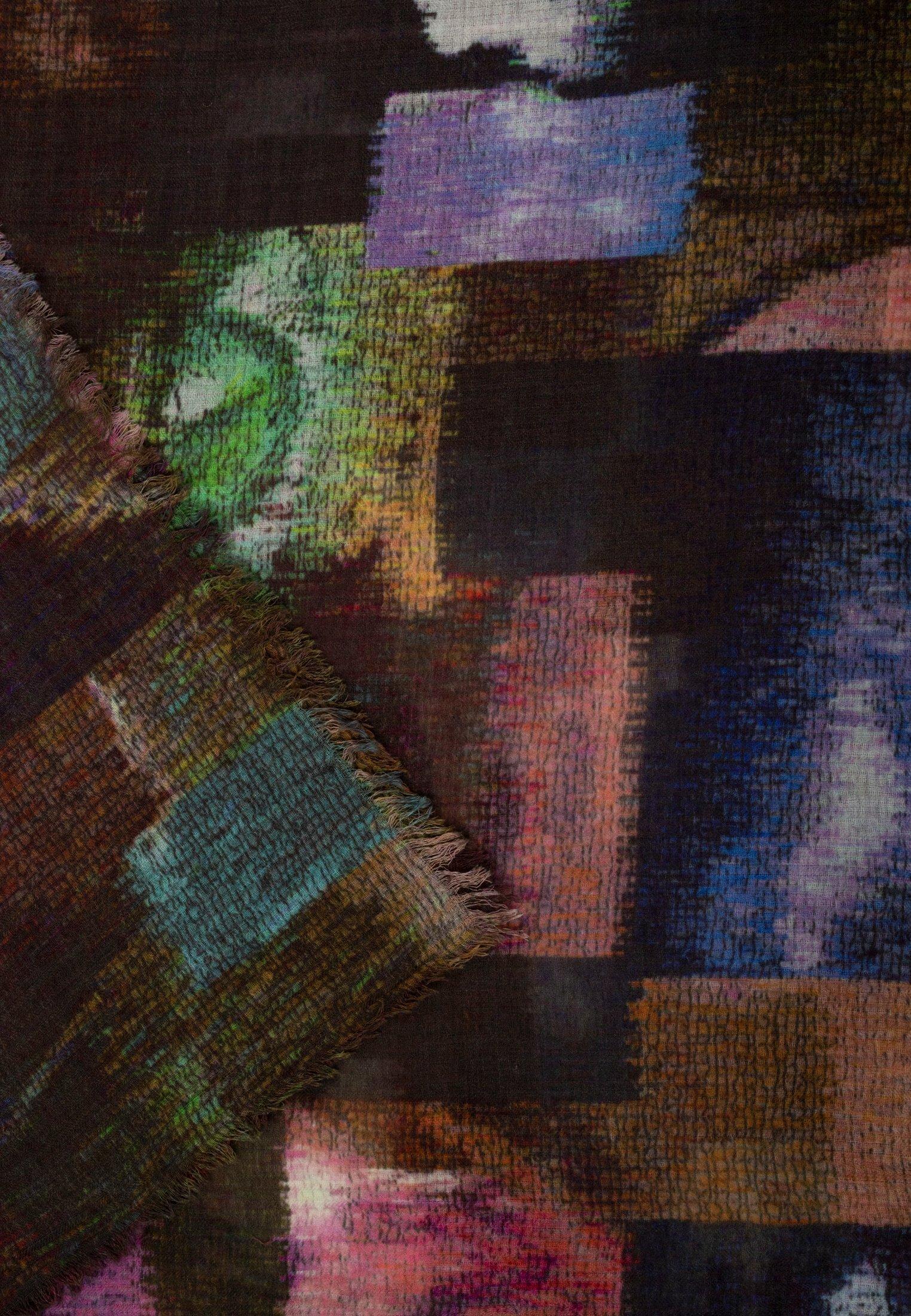Apart Mit Digitalprint - Schal Braun Multicolor/mehrfarbig