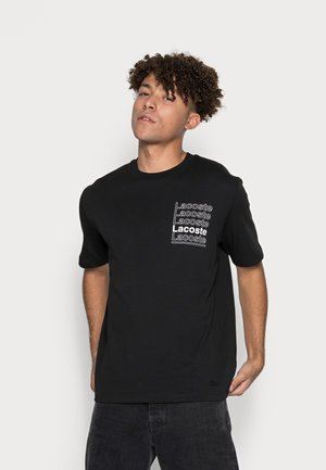 T-shirt med print - noir