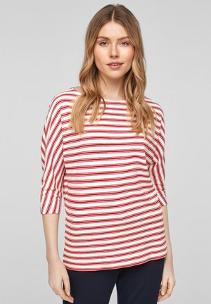 Long sleeved top - red stripes
