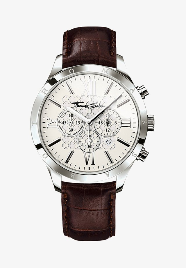 Chronograaf - silver-coloured/brown