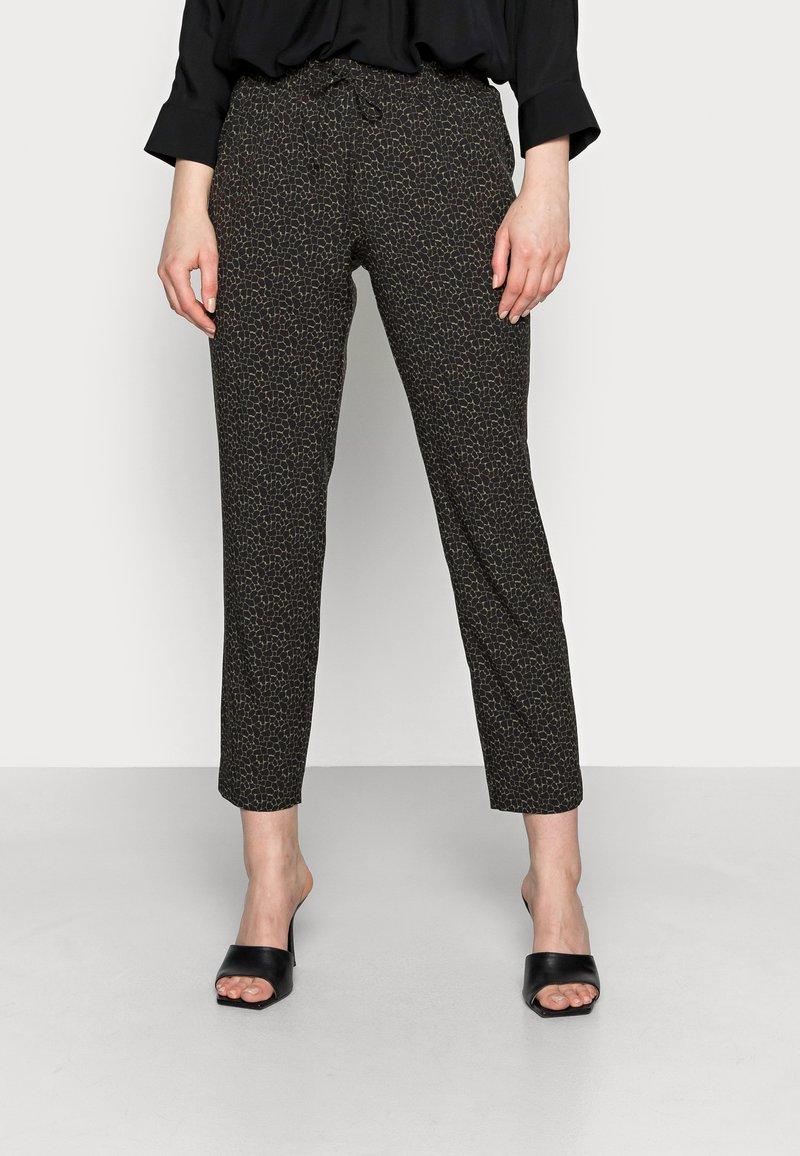 Opus - MELPIN MINIMAL - Trousers - black