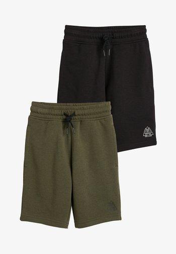 2 PACK SHORTS - Shorts - black