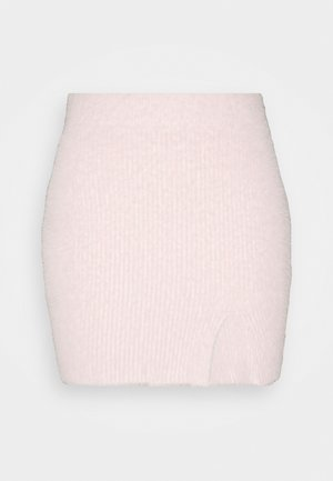 SKIRT WITH SPLIT - Minisukňa - pale pink