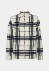 Abercrombie & Fitch - PLAID JACKET - Summer jacket - cream - 4