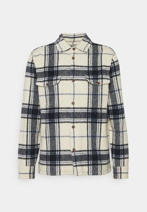 PLAID JACKET - Kurtka wiosenna - cream