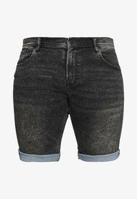 Shine Original - Denim shorts - black mud - 3