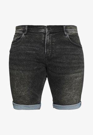 Shorts di jeans - black mud