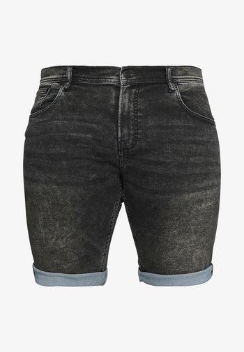 Jeansshorts - black mud