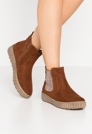 Ankle boots - chestnut