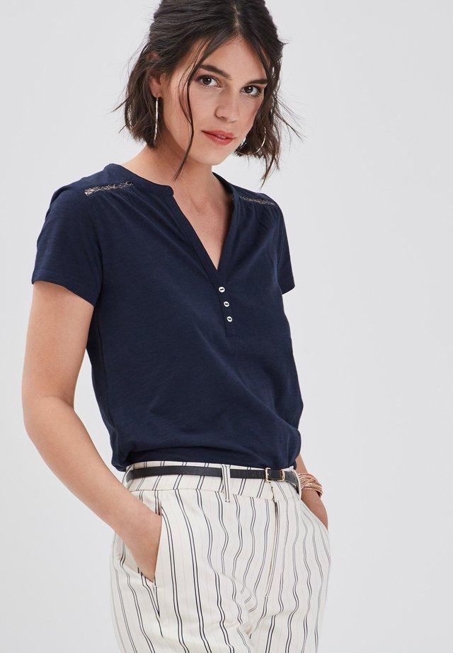 T-shirt print - bleu marine